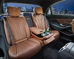 Mercedes S550 Limo Interior